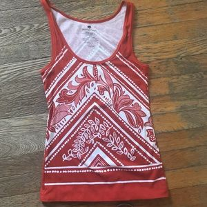 Banana Republic Fitted printed tank
